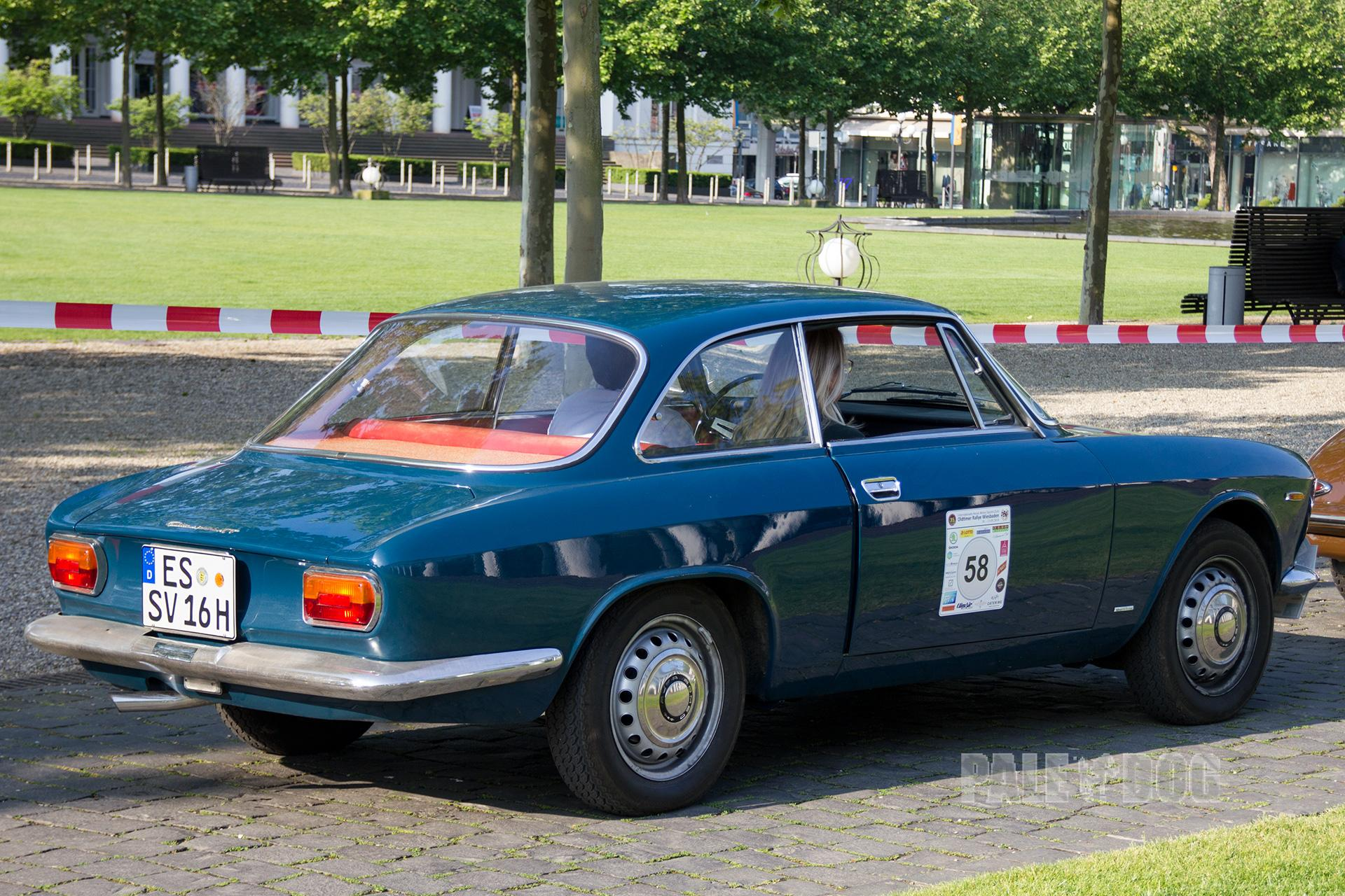 1964 Alfa Romeo Giulia Sprint Gt Rear View 1960s Paledog Photo