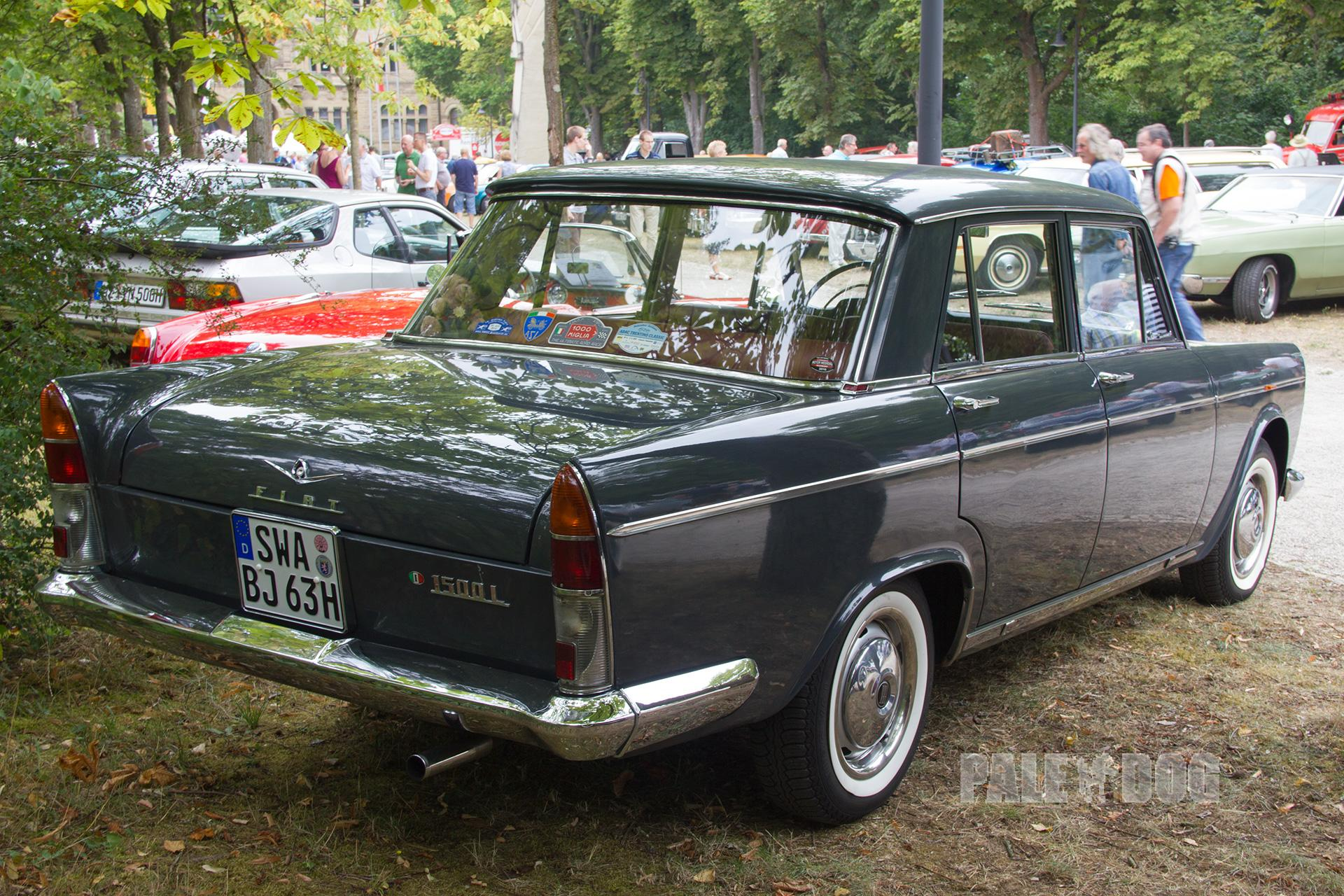 1963 Fiat 1500 L (rear view) | 1960s | Paledog Photo Collection