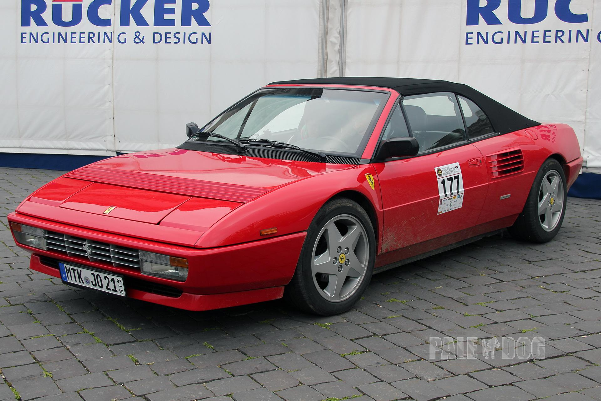 1991 ferrari mondial t cabriolet front view 1990s paledog photo collection. Black Bedroom Furniture Sets. Home Design Ideas