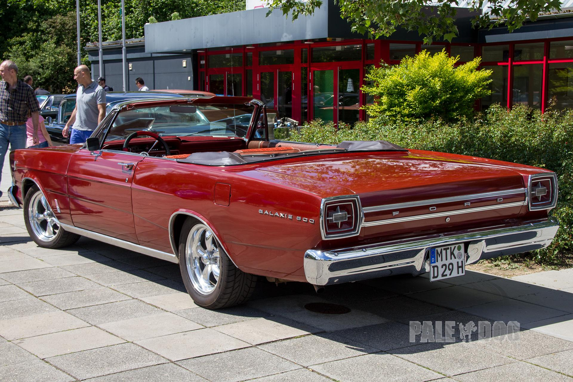 1966 Ford Galaxie 500 Convertible Rear View 1960s Paledog Photo Collection