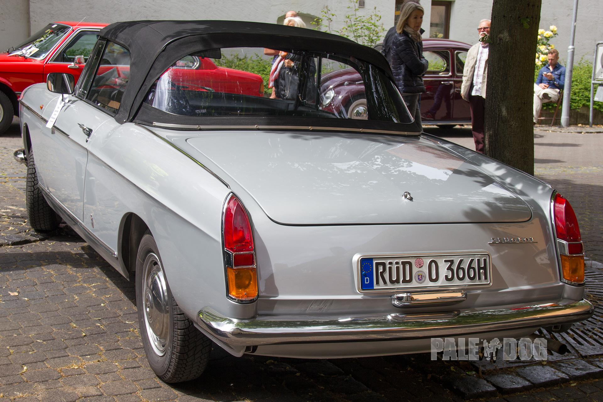 1966 Peugeot 404 Cabriolet Rear View 1960s Paledog Photo Collection