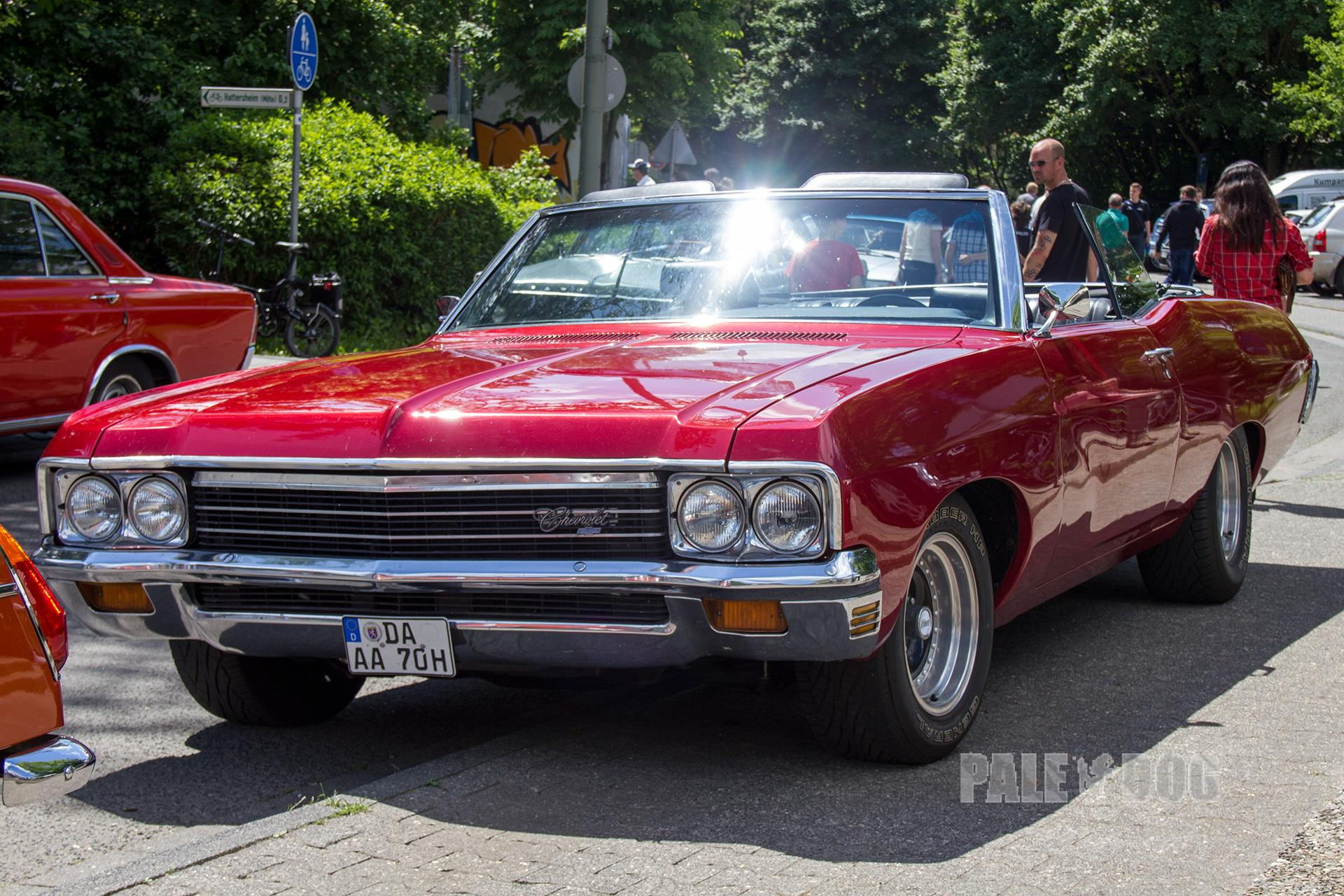 1970 Chevrolet Impala Convertible Front View 1960s