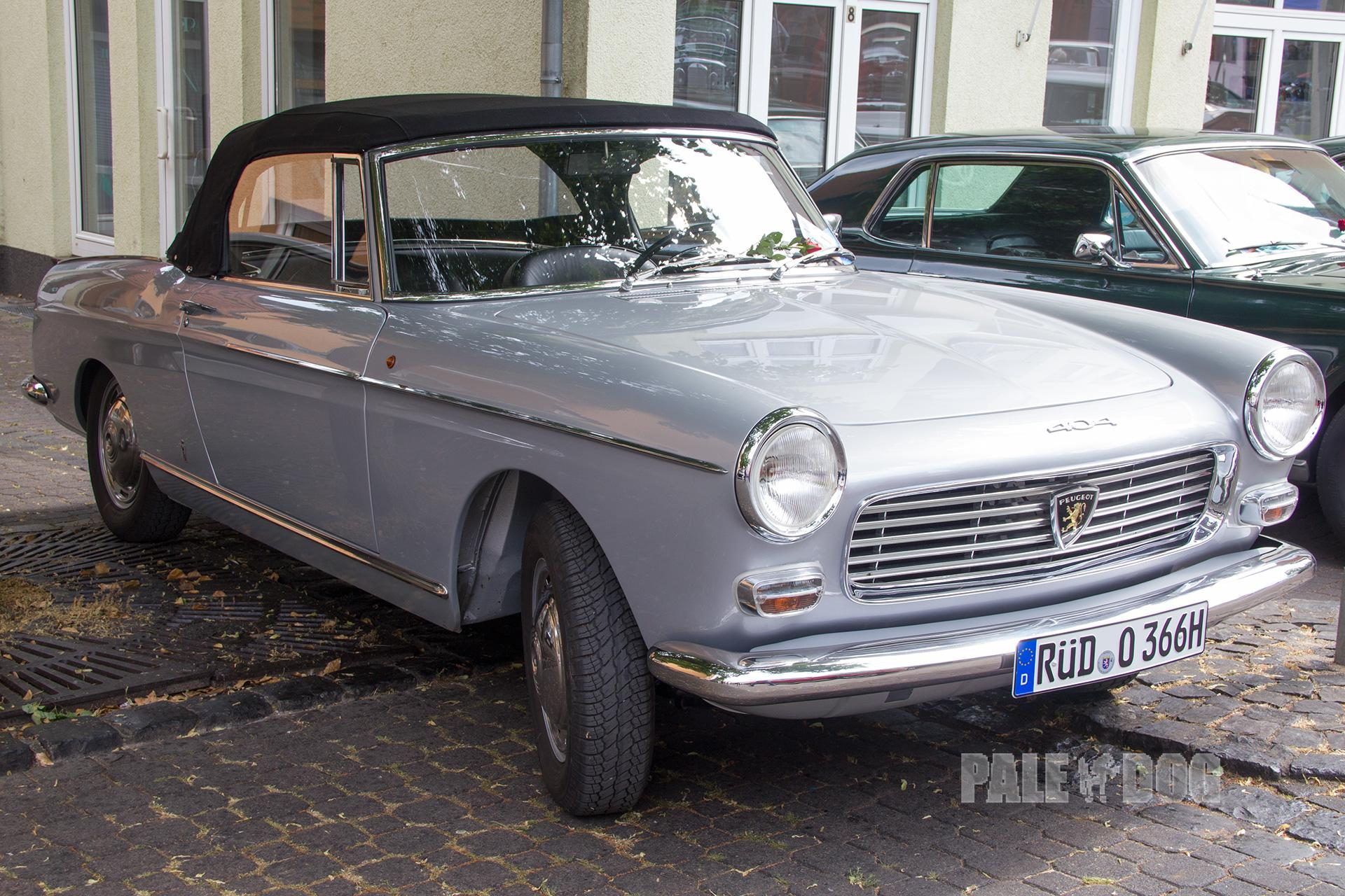 1966 Peugeot 404 Cabriolet Front View 1960s Paledog Photo Collection