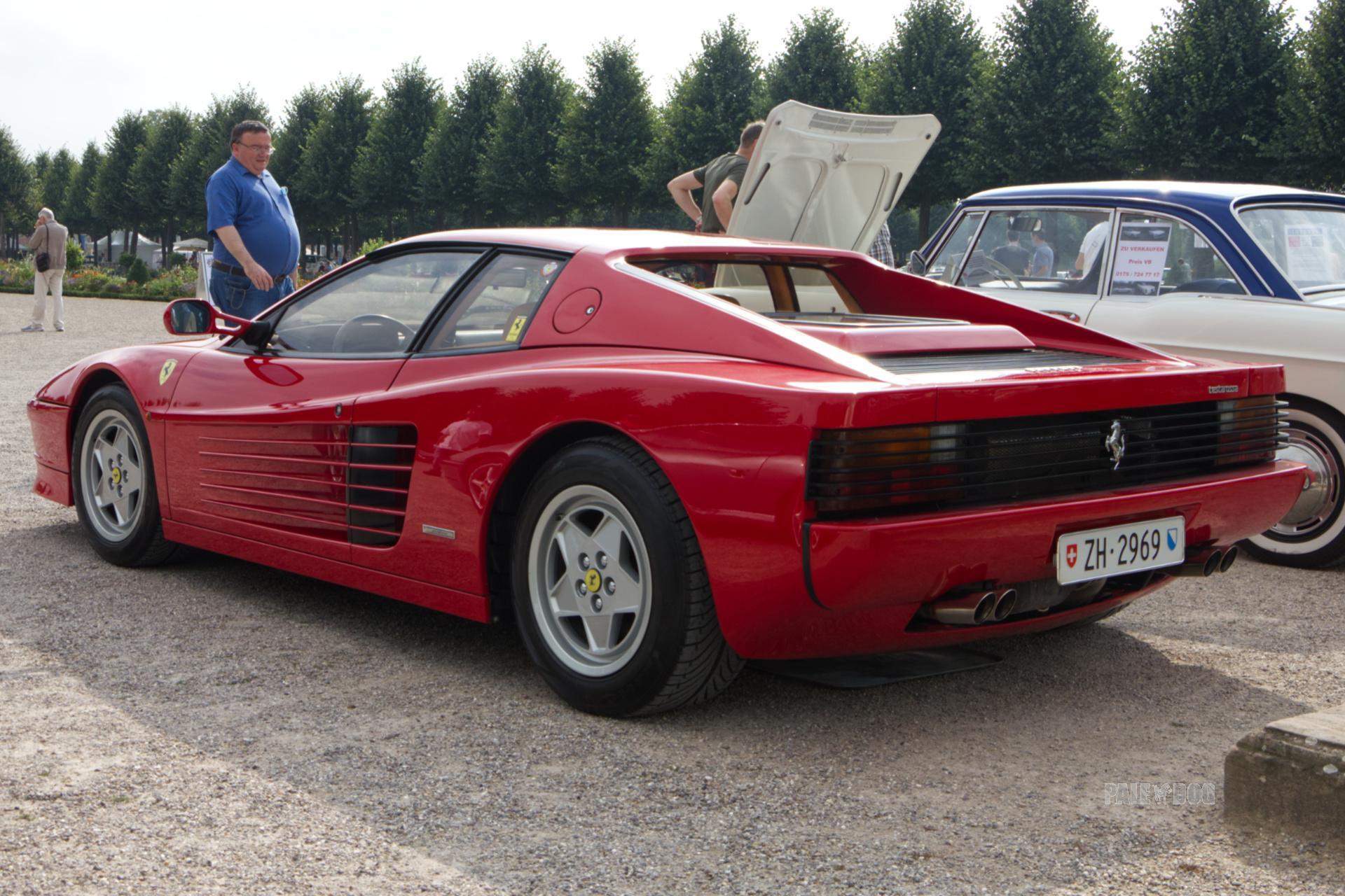 1989 Ferrari Testarossa Rear View 1980s Paledog Photo Collection