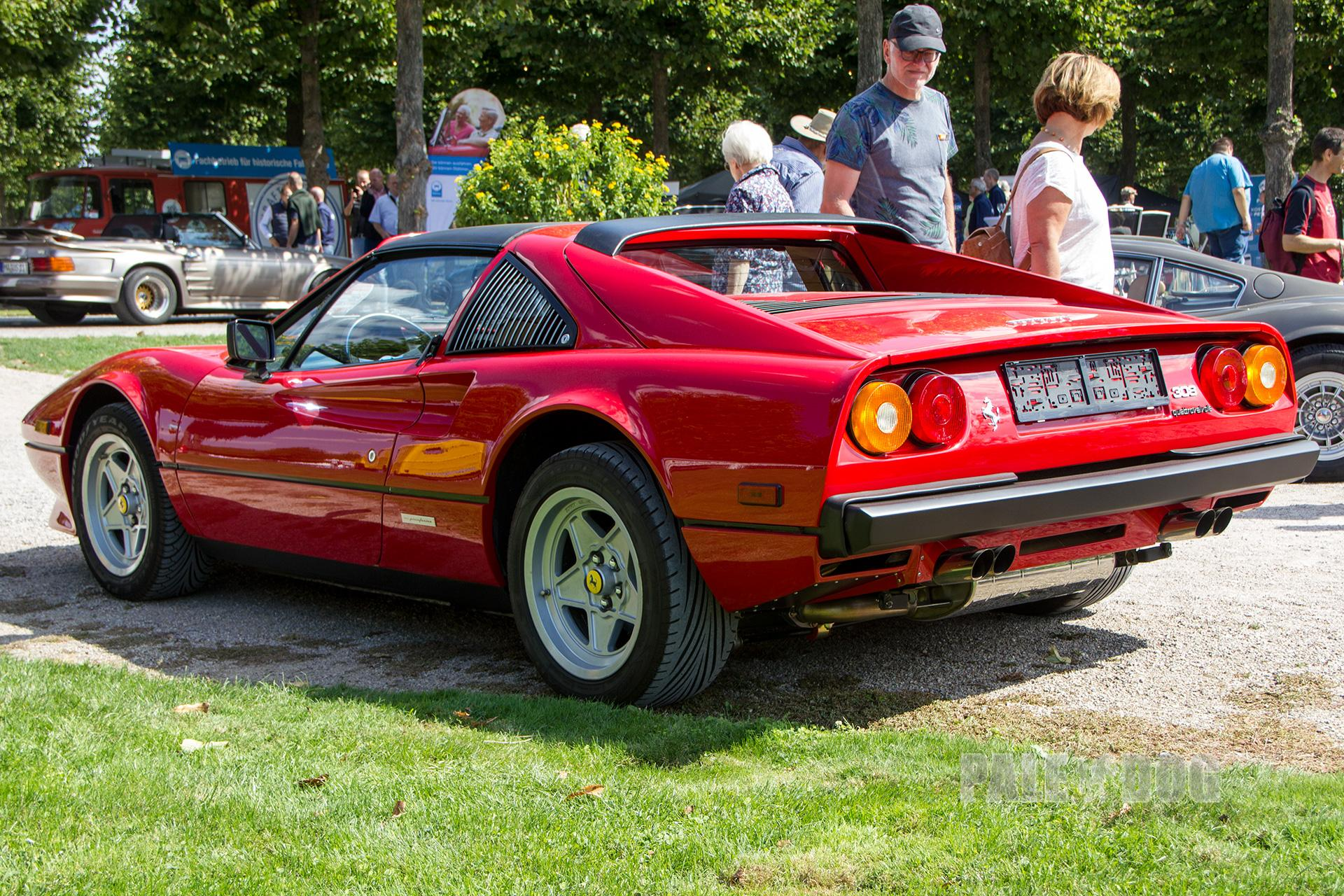1984 Ferrari 308 Gts Quattrovalvole Rear View 1980s Paledog Photo Collection