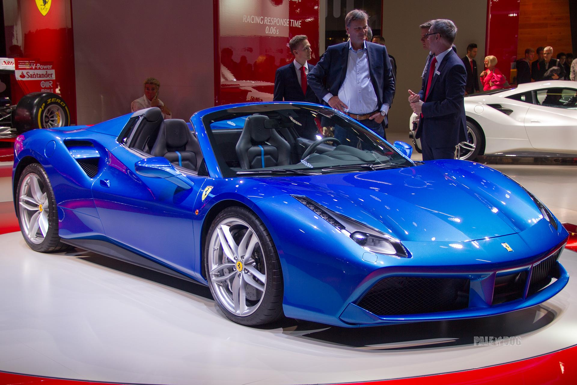 2015 Ferrari 488 Spider Front View 2010s Paledog Photo Collection