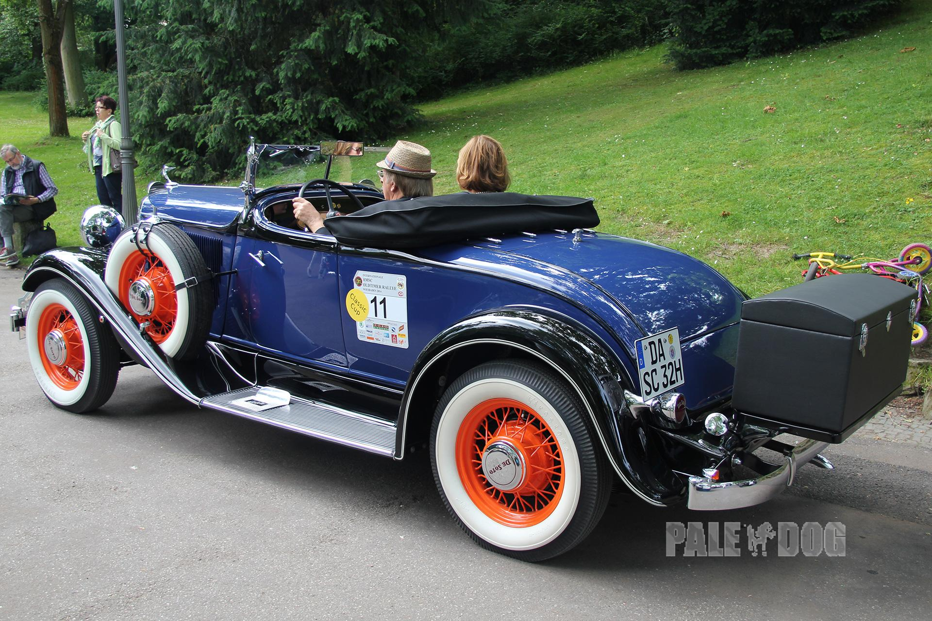 1932 Desoto Standard 6 Sc Roadster Rear View Post Vintage Paledog Photo Collection