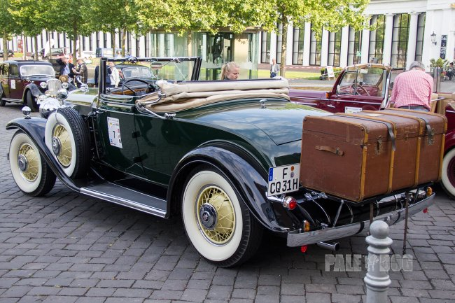 1931 Cadillac Eight Series 355-A Fleetwood Convertible Coupe (rear view)