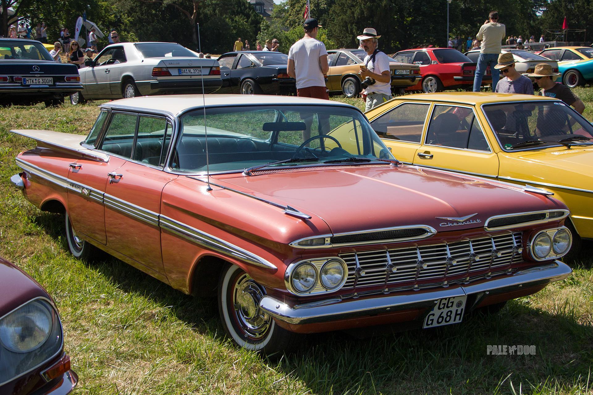 1959 Chevrolet Impala Hardtop Sport Sedan Front View Post War Paledog Photo Collection