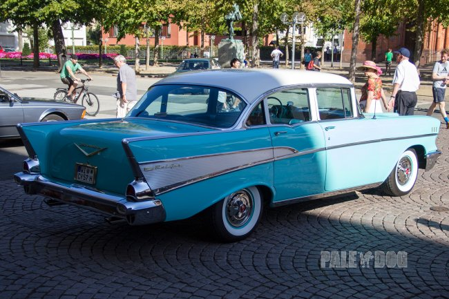 1957 Chevrolet Bel Air Sedan (rear view)