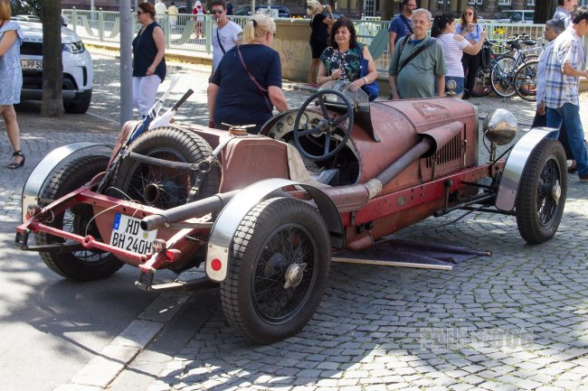 1922 Alfa Romeo Rl Sport Rear View Vintage Paledog Photo