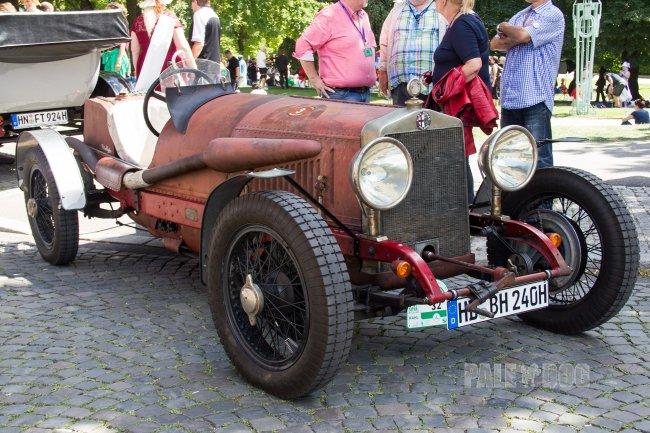 1922 Alfa Romeo Rl Sport Front View Vintage Paledog Photo